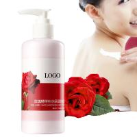 China Natural Rose Oil Body Lotion , Moisturizing Body Lotion Provides Barrier Protection on sale