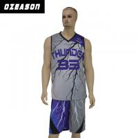 Buy cheap OEM Breathable Mesh Never Fading Sublimation Basketball Jersey product
