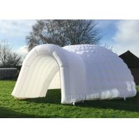 Buy cheap Simple Inflatable Igloo Tent , White Inflatable Dome Tent CE / UL Certificate product
