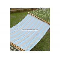 Weather Resistant Single / Two Person Hammock With Spreader Bar And Stand Ocean Stripe