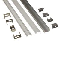 Buy cheap Silver Matt Square / Round Anodized Aluminium LED Profiles For LED Frame product