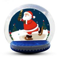 Quality 4m Big Inflatable Lawn Snow Globe / Blow Up Snow Globe Decoration for sale
