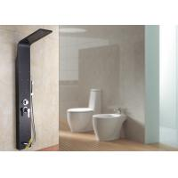 Buy cheap Two Massage Jets Stainless Steel Shower Panel ROVATE Black Polished Surface product