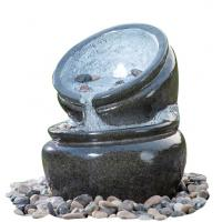Buy cheap Traditional Black Marble Cast Stone Fountains Outdoor In Magnesia Material from wholesalers