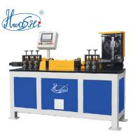 Buy cheap HWASHI 1.1mm-7mm High Speed Steel Wire Straightening and Cutting Machine for Wire Frame with Decoiler product