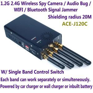 Buy cheap 1.2G 2.4G Wireless Spy Camera Audio Bug WIFI Bluetooth Signal Jammer Blocker Single Switch product