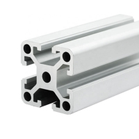 Buy cheap Mill Finish 100X100 6082 Aluminum Assembly Line Extrusions product