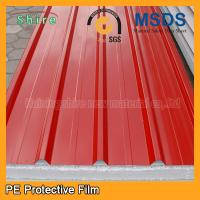 Buy cheap Temporary Surface Protection Films And Tapes For PPGI / PPGL Corrugated Roofing Sheet product