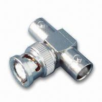 Buy cheap RF Coaxial Connector T Type BNC Plug to Double BNC Jack, adaptor product