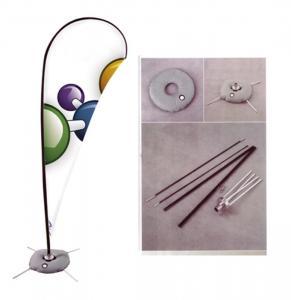 Buy cheap Advertising Teardrop Flag Banner Cross Base Fiberglass / Aluminum Pole product