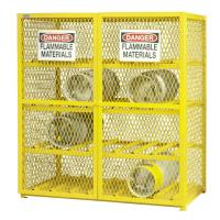 Buy cheap Metal Compressed Gas Cylinder Storage Box 1524*762*1822 Weather Proof from wholesalers