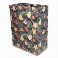 Buy cheap Paper Bag, Suitable for Christmas Gift Packing Purposes, OEM Orders are Welcome product