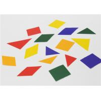 Buy cheap Special Design Gummed 2d Shapes , Coloured Paper Shapes For Jigsaw Puzzle product