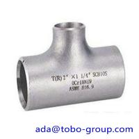 "Buy cheap seamless Stainless Steel Tee , single slit pipe wall thickness 1 / 2 "" NPS Sch5S to 24""OD x30mm product"