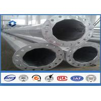 Quality Black Welding Electricity Transmission Line Steel Tubular Poles 25m with 5.0mm Thickness for sale