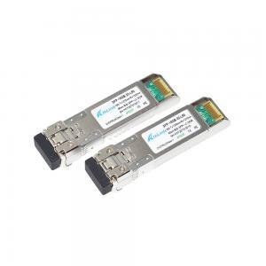 Buy cheap 10G 1270nm 1330nm 80km Single LC Optic fiber Module product