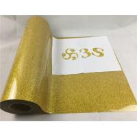 China 0.5m*25m Heat Press Transfer Vinyl Gold Glitter Cut Sheets For Clothing on sale