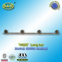 Quality Metal coffin bar Ref H023 zamak coffin long bar metal herrajes de ataudes 1.55 meter with 4 bases for sale