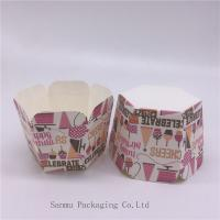 Buy cheap Personalized Printed Cupcake Wrappers , Greaseproof Square Cupcake Baking Cups Bakery Set product