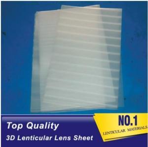 Buy cheap Plastic lenticular super transparent thin161lpi 0.25mm PET 3d lenticular lens plastic sheet film for UV offset prining product