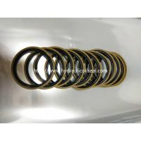 Buy cheap Coffee And Golden Color Hydraulic Piston Seals PTFE + Bronze + NBR / Cylinder Seal Kit from wholesalers