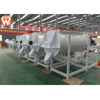 Buy cheap Horizontal Animal Livestock Poultry Feed Mixer Round 1 Ton / P High Efficiency product
