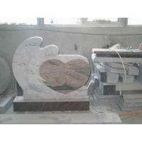 Buy cheap Multi Color Angel Memorials Headstone , Custom Granite Headstones With Sculpture product