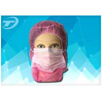 Buy cheap Disposable astronaut cap with face mask  2ply / 3ply earloop , made of polypropylene fabric product
