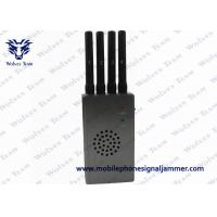 Buy cheap Grey 4G LTE Cell Phone Signal Jammer Portable With  4800mA / H Ni - Ion Battery product