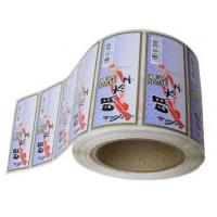 Buy cheap Die Cut White PVC Self Adhesive Labels With Pantone Color Eco Friendly product