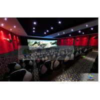 Buy cheap Large High Definition 4D Movie Theater Motion Chair With Arc Screen product