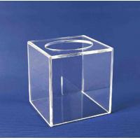 Buy cheap Acrylic Storage Boxe , Clear Acrylic Suggestion Box 5mm x 150mm x150mm product