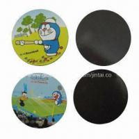 Buy cheap Refrigerator magnets, made of paper or rubber in round shape, OEM orders are welcome product