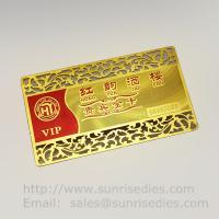 Buy cheap Etched Metal Membership Cards, Custom Photo Etching VIP Member Cards product