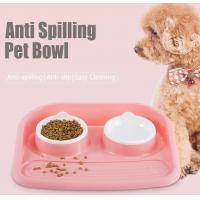 Buy cheap Non Slip Plastic Feeding Dishes No Spill Pet Dog Cat Double Food Water Bowl For Cat Dog, Premium Colorful Dog Water Food product