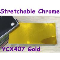 Buy cheap Stretchable Chrome Mirror Car Wrapping Vinyl Film - Chrome Gold product