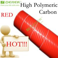 Buy cheap High Polymeric Carbon Fiber Vinyl Car Wrapping Film - Red product