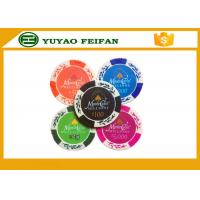Buy cheap Wheat Crown 13.5 G Casino Monte Carlo Clay Poker Chips With Two Side Stickers product