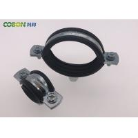 Buy cheap Heavy Duty Cast Iron Pipe Clamps With Rubber , M8 / M10 Rubber Lined Split Pipe Clamp product