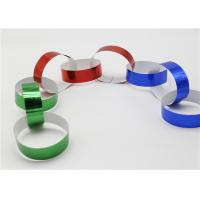 Buy cheap Holographic Striped Christmas Paper , Gummed Paper Chains For Display SGS product