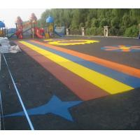 Buy cheap Pour In / Wet Pour Epdm Rubber Flooring , Colorful Rubber Granules Flooring Playground Cover  product
