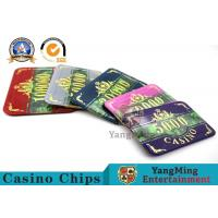 Buy cheap High-end Fashion Bronzing 760 Acrylic Purple Anti-Counterfeit Chip Set Factory Direct Combination With Customizable product