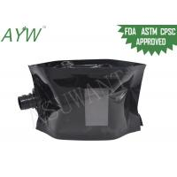 Buy cheap Glossy Black Liquid Spout Bags Clear Window For Soft Drinks / Energy Drinks from wholesalers
