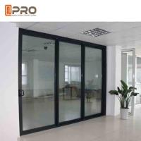 Buy cheap Powder Coated Bullet Proof Aluminium Sliding Glass Doors Customized Size product
