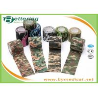 Quality Army Camping Hunting Camouflage Pattern Printing Non Woven Self Adhesive Elastic Bandage for sale