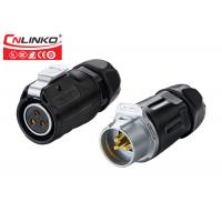 Buy cheap Bayonet Connecting 20A  Waterproof Telephone Cable Connector  3 Pin  Industrial product