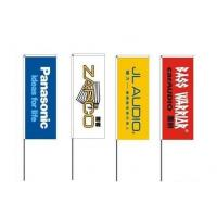 Buy cheap PET Polyester Outdoor Advertising Flags 60cm x 160cm High Resolution product