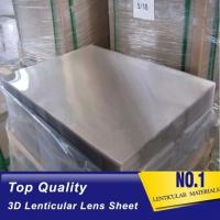 Buy cheap Plastic Lenticular PS material lenticular board 40LPI, 3.95mm, 120x240cm lenticular sheet for injekt print with best 3D product