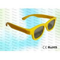 Buy cheap Yellow Ghost And Flicker Free Circular Polarized 3d Glasses For 3D TV Use product