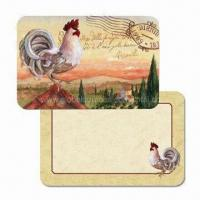 Buy cheap Plastic Placemats and Coasters for Kitchen, Customized Designs are Accepted, Made of PP product